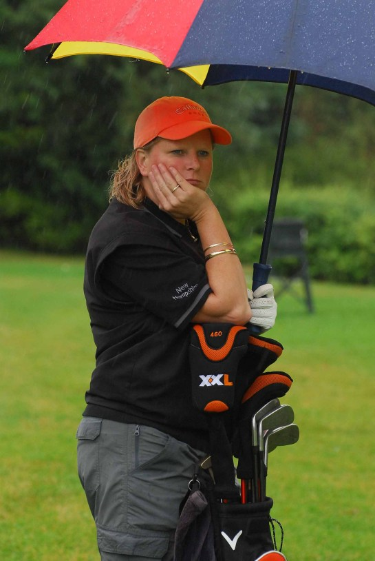 Unhappy fair weather golfer