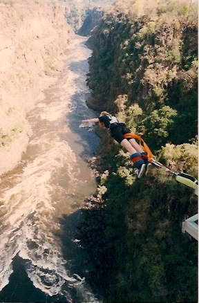 Bungee Jumping at Victoria Falls