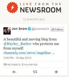 Jon Snow Channel 4 News
